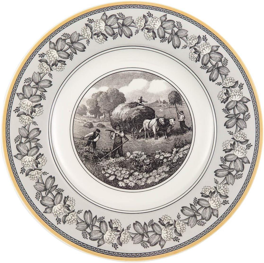 Porcelana Premium Blanco//Gris//Amarillo Villeroy /& Boch Audun Ferme Plato para desayuno o postres 22 cm