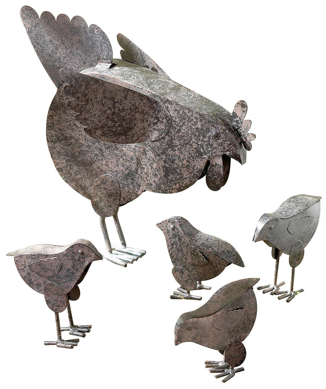 VERDUGO GIFT Mother Hen U0026 Chicks Country Garden Sculpture Set