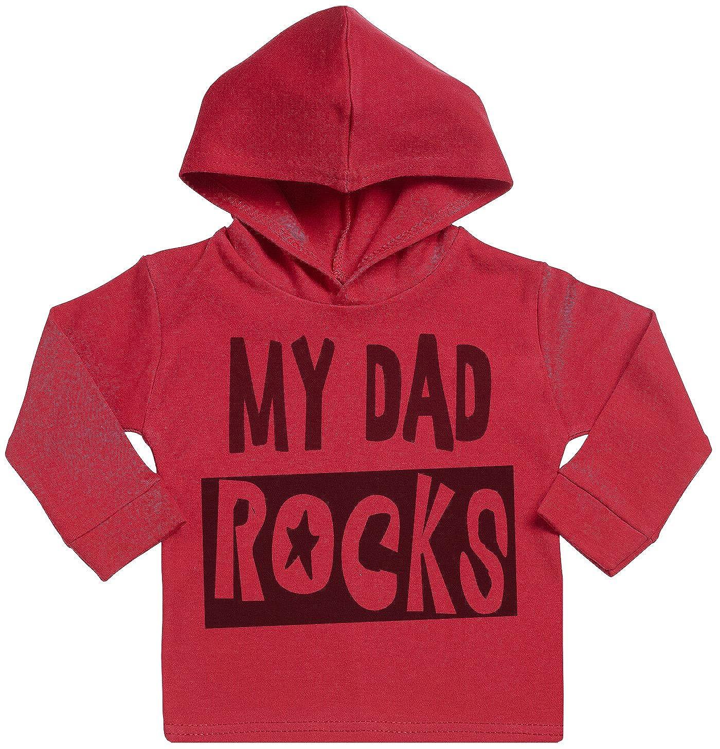 Sudadera con Capucha Para Beb/é Ni/ña My Dad Rocks Sudadera con Capucha Para Beb/é Sr Gris Sudadera con Capucha Para Beb/é Ni/ño