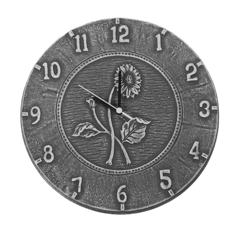 Poolmaster 12''Antique Black Terra Cotta Clock