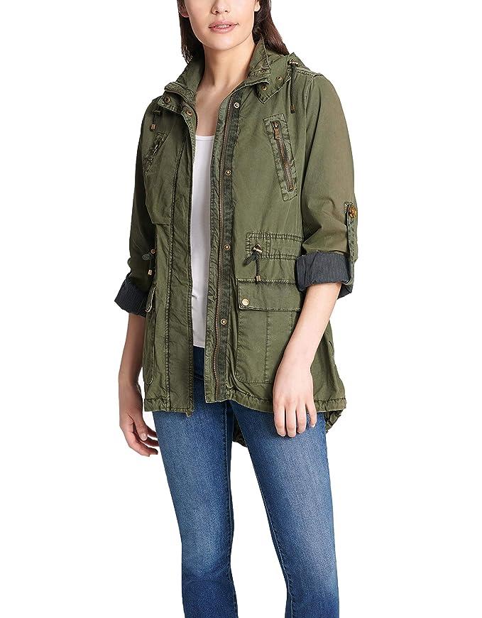 5a23f6c23373c Levi's Women's Lightweight Cotton Hooded Anorak Jacket at Amazon Women's  Coats Shop