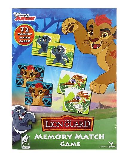 amazon com disney junior the lion guard memory match game 72 cards