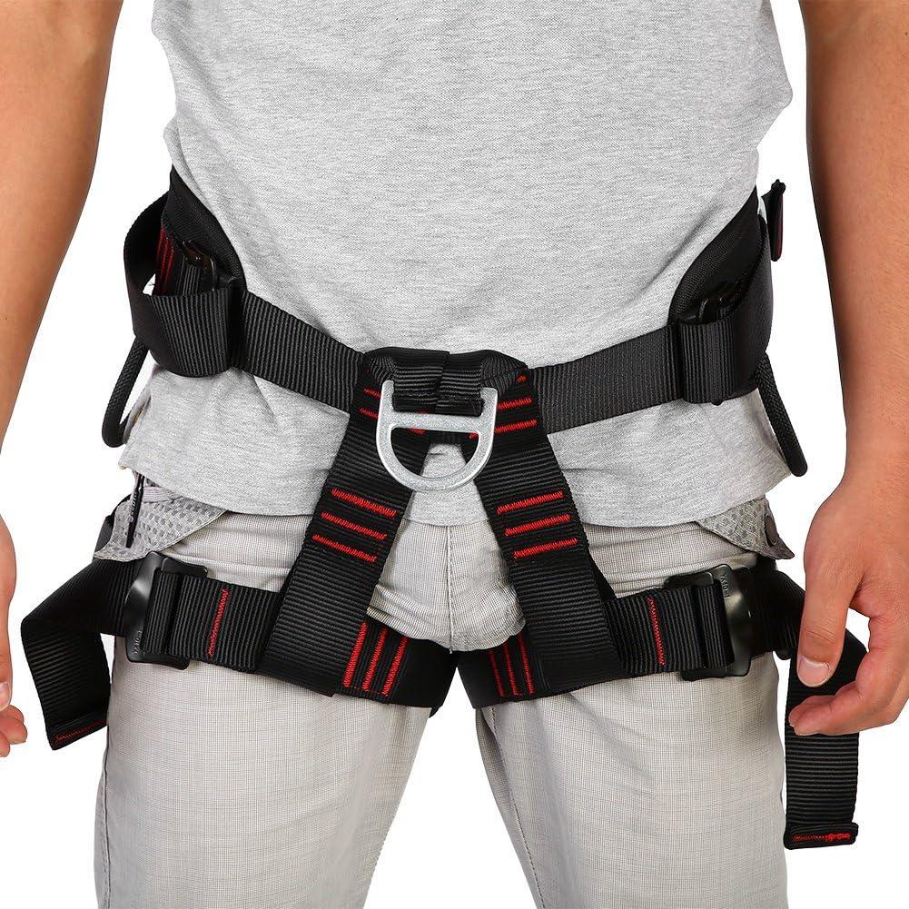 GOTOP - Arnés de Seguridad Ajustable para Escalada al Aire Libre, Resistente para Escalada, cinturón de Seguridad para el Pecho, arnés de protección, ...