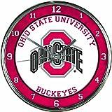 NCAA Ohio State Buckeyes Chrome Clock