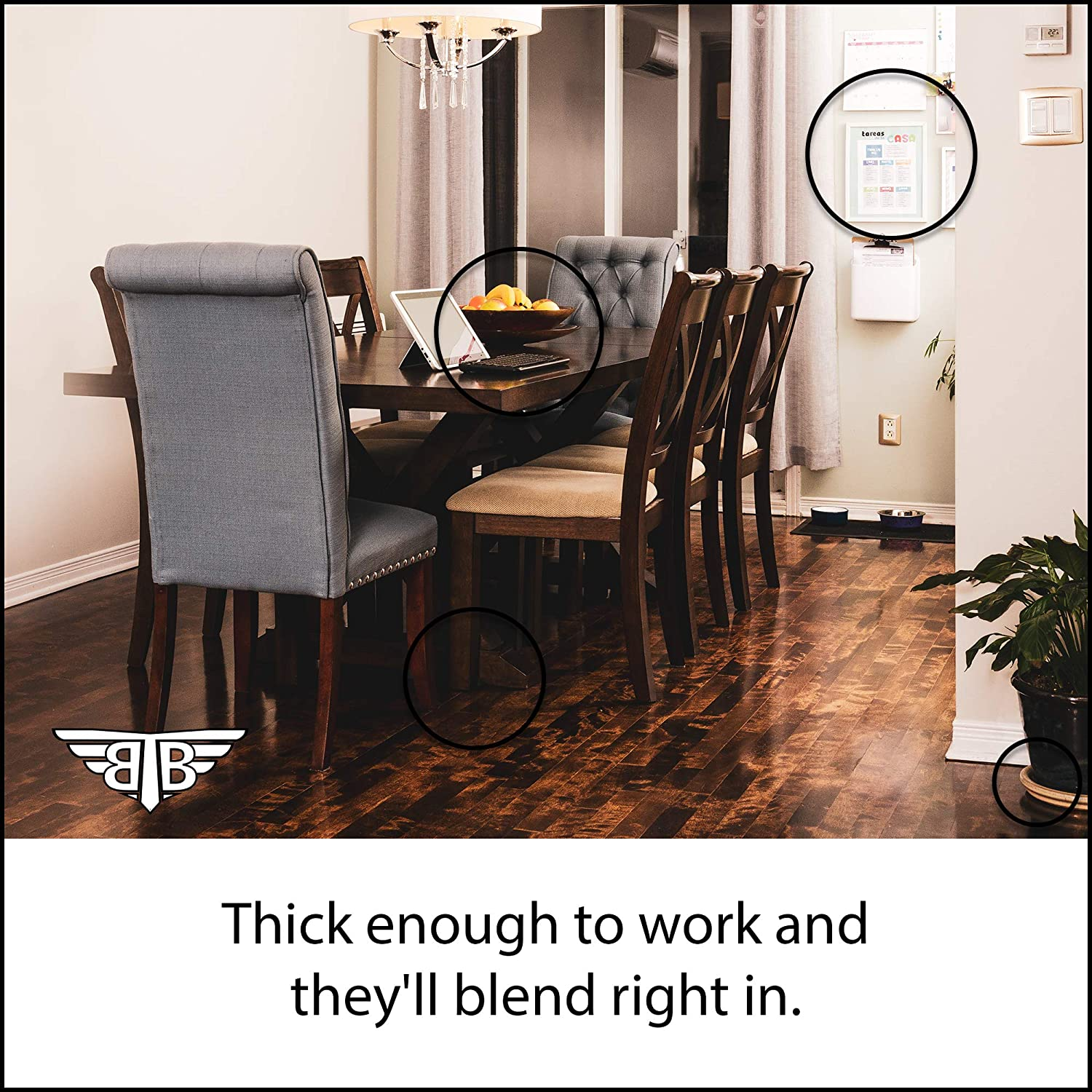 Proven Results 274pc MEGA Pack 2-Colors 8 Shapes /& Sizes Barb The Builder BTB-FP2018 Easy to Use Felt Furniture Pads for Hardwood Floors Effective Chair Leg Floor Protectors Protect Your Home from Scratches