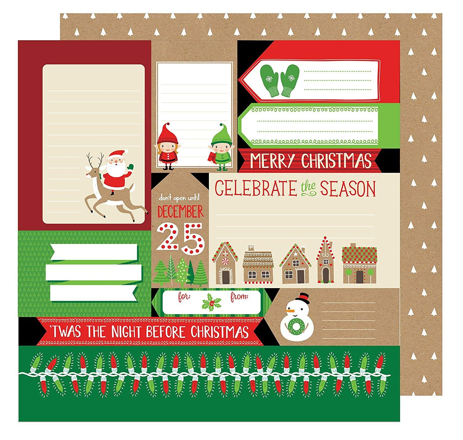 All Wrapped Up Collection Christmas 12 X 12 Double Sided Paper TWAS The Night (6 Pack)