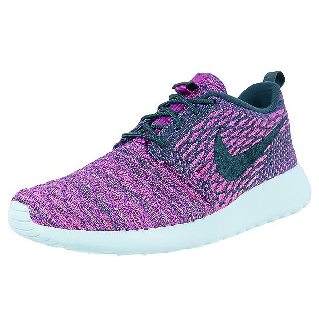 watch 79be7 79bd4 Amazon.com   NIKE Women s Roshe One Flyknit Casual Shoes Purple 704927-302    Running