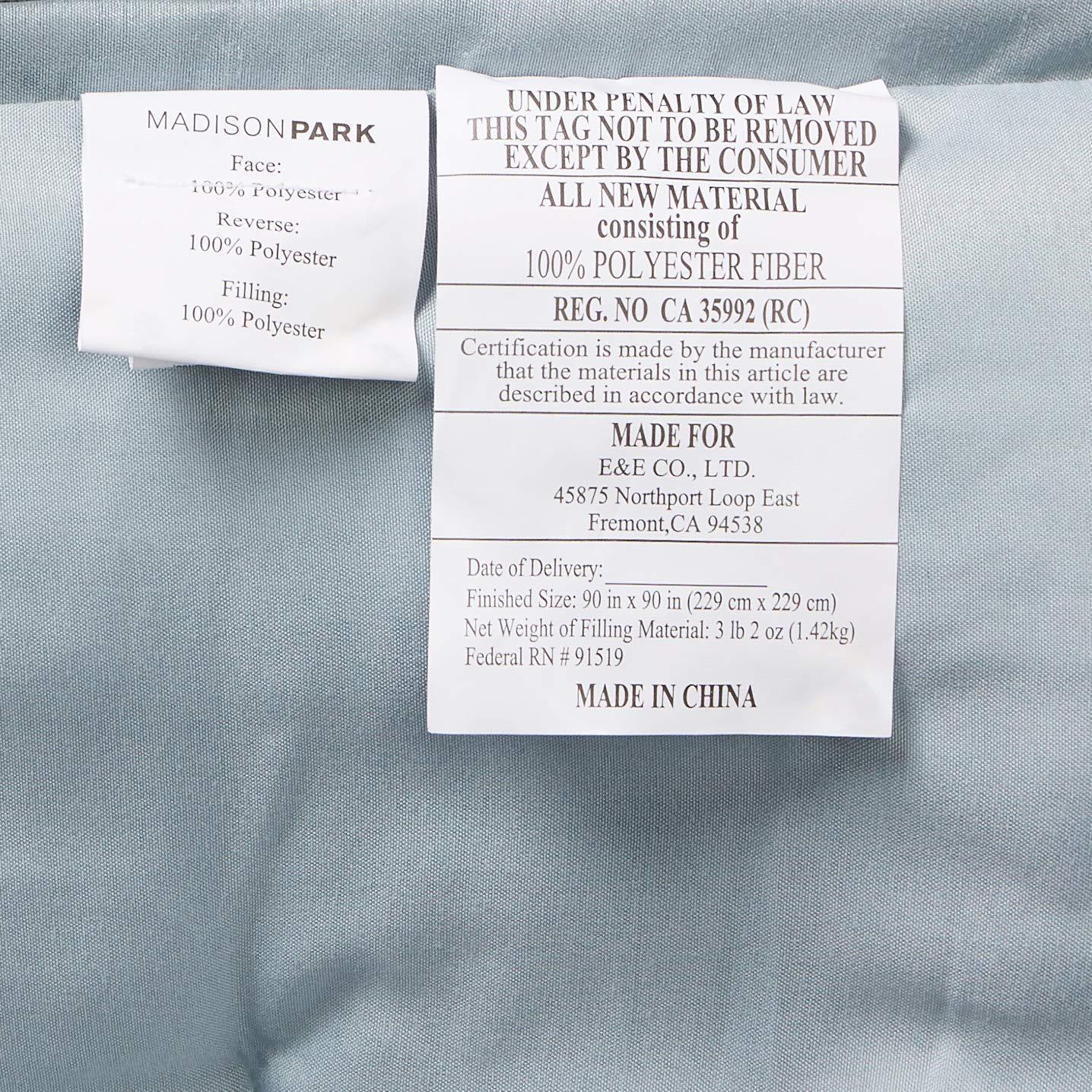 Madison Park Carlow 7 Piece Comforter Set Grey Cal King MP10-2375