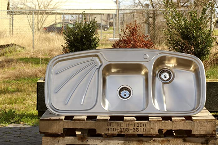 Amazon.com: Vintage Inspired 304 Stainless Steel Farm Sink ... on antique metal sink cabinet, antique metal laundry sink, antique metal tub sink, antique metal double sink,