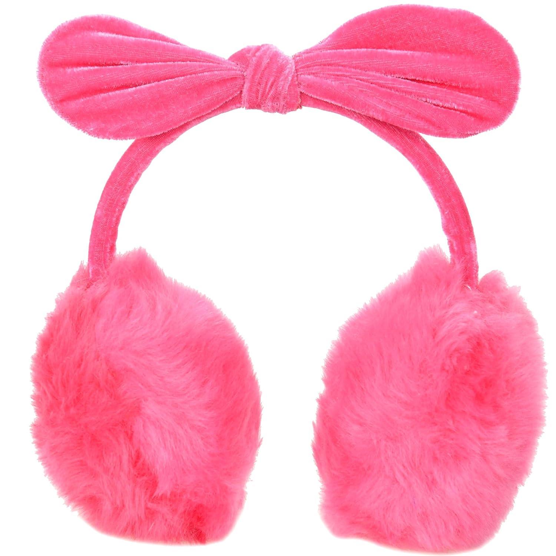 Ladies Adorable Bunny Ears Luxuriously Soft Fuzzy Plush Winter Earmuffs 88-B15080006-07