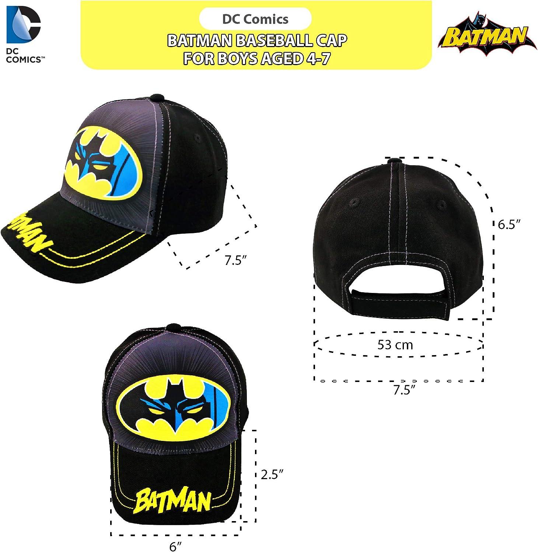 Justice League 3D POP Little Kids and Toddler Baseball Hat Batman DC Comics Kids Baseball Cap for Boys Ages 2-7 Superman