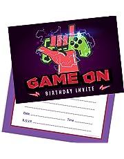 Olivia Samuel Game On Birthday Invitations