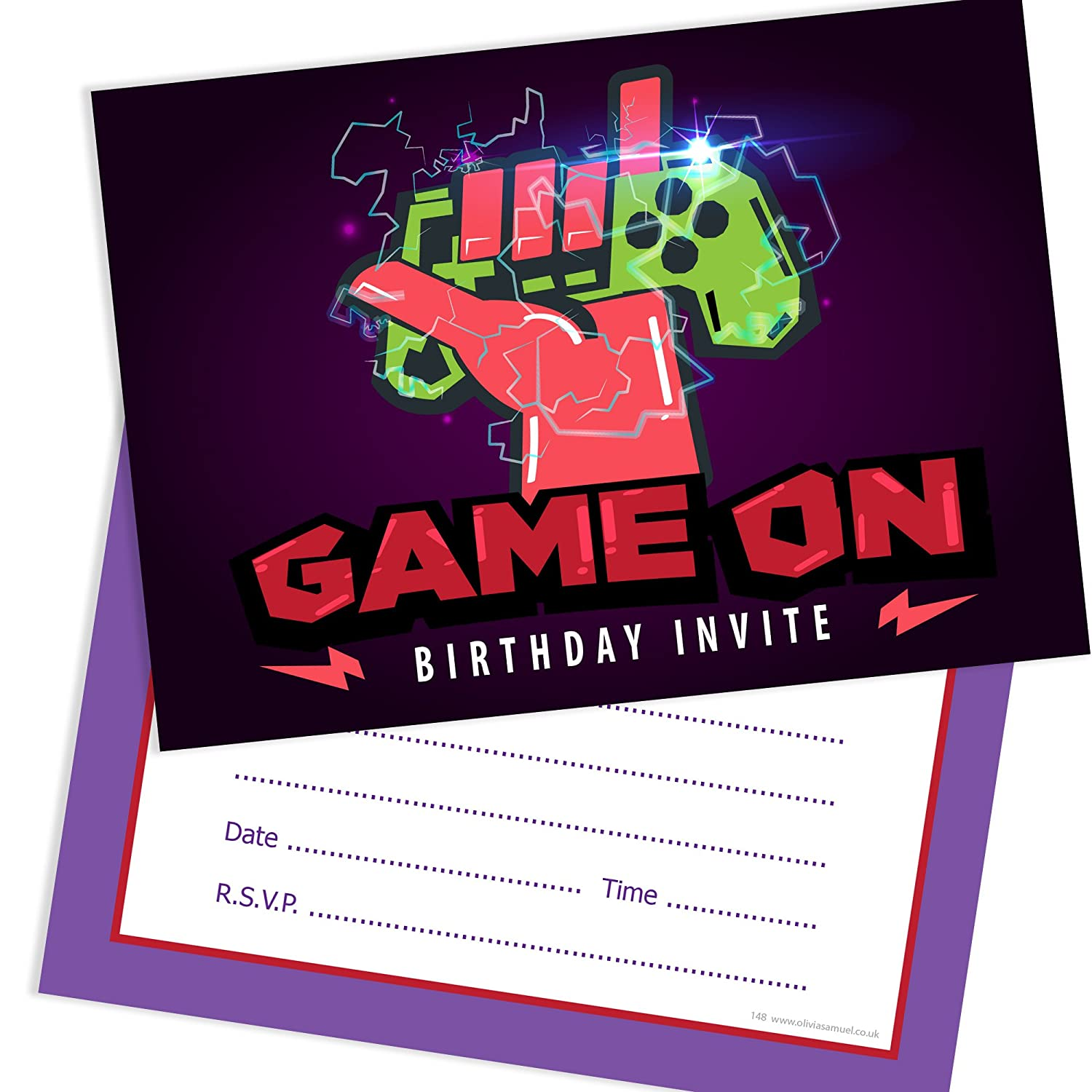 Game On Birthday Invitations - Gamer Party Invitations Ready to ...