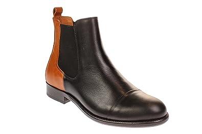 39f02cdfd6fc34 TEN POINTS 206001 Diana - Damen Schuhe Chelsea Boots - 123-black-cognac