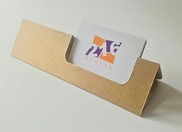 Visitenkartenhalter Aus Karton Kraftpapier Raum Logo 10