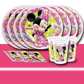 5442937d58674 Kit de décoration de table Minnie Mouse pour 16 personnes: Amazon.fr ...