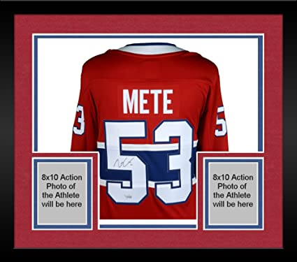 41c7408d3 Framed Victor Mete Montreal Canadiens Autographed Red Fanatics Breakaway  Jersey - Fanatics Authentic Certified