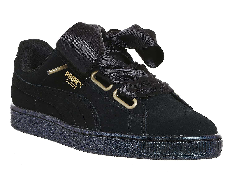 Puma Suede 16959 Heart Suede Satin II, Sneakers Puma Basses Femme Noir a6db674 - piero.space