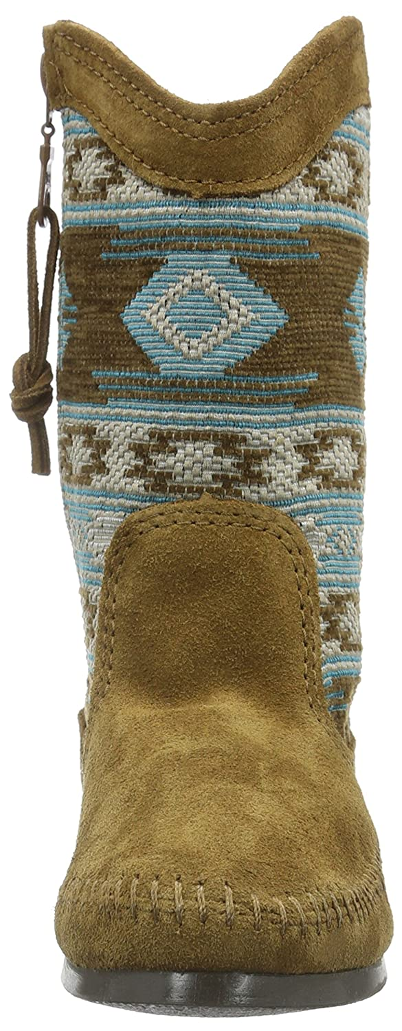 Minnetonka Women's Baja B(M) Slouch Boot B00X81NGOA 6 B(M) Baja US|Dusty Brown Suede/Turquoise Fabric 58d1af