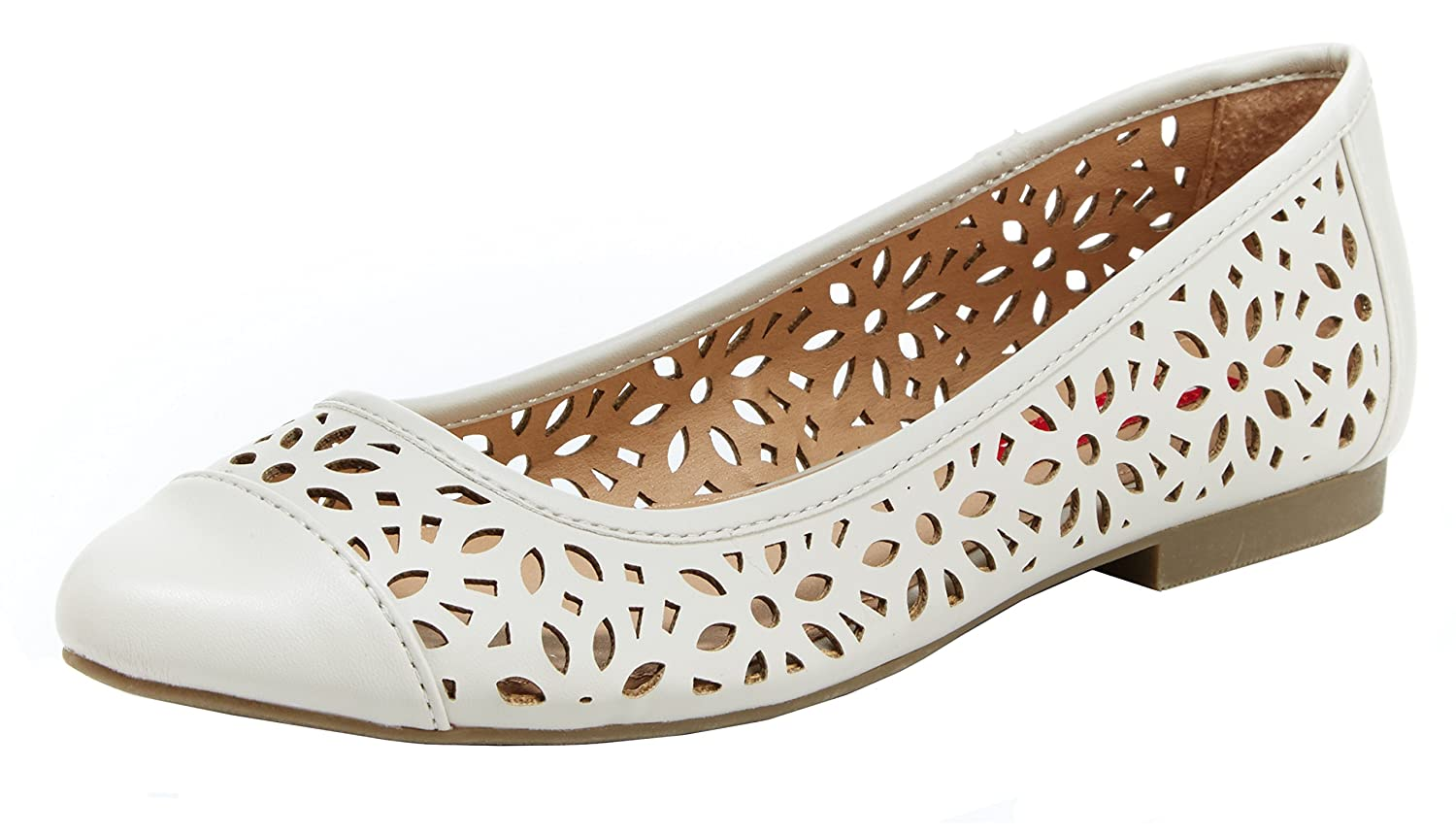 UNIONBAY Women's Willis Pointed Toe Flat B06XKPG5P7 6 UK/6 M US|Ivory