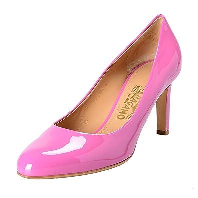 Salvatore Ferragamo Womens Leo Leather Pumps Shoes US 75C IT 8C EU 38C