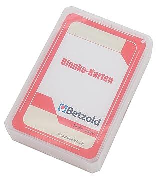 Betzold 48 tarjetas, tarjetas en blanco, juego de cartas ...