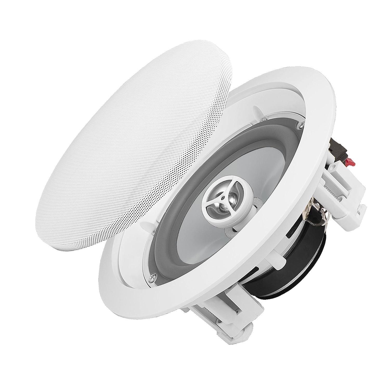 OSD Audio ICE800WRS 8-Inch 150-Watt Polypropylene Weather Resistant In-Ceiling Stereo Speaker Pair