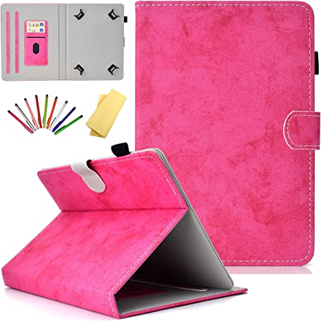 PU Leather Folio Protective Cover Magnetic Closure Wallet Case for Galaxy Tab//Fire 7 2015 /& 2017// fire hdx 7// Mediapad//Google and More 6.5-7.5 Tablet Universal Case for 6.5-7.5 inch Tablet