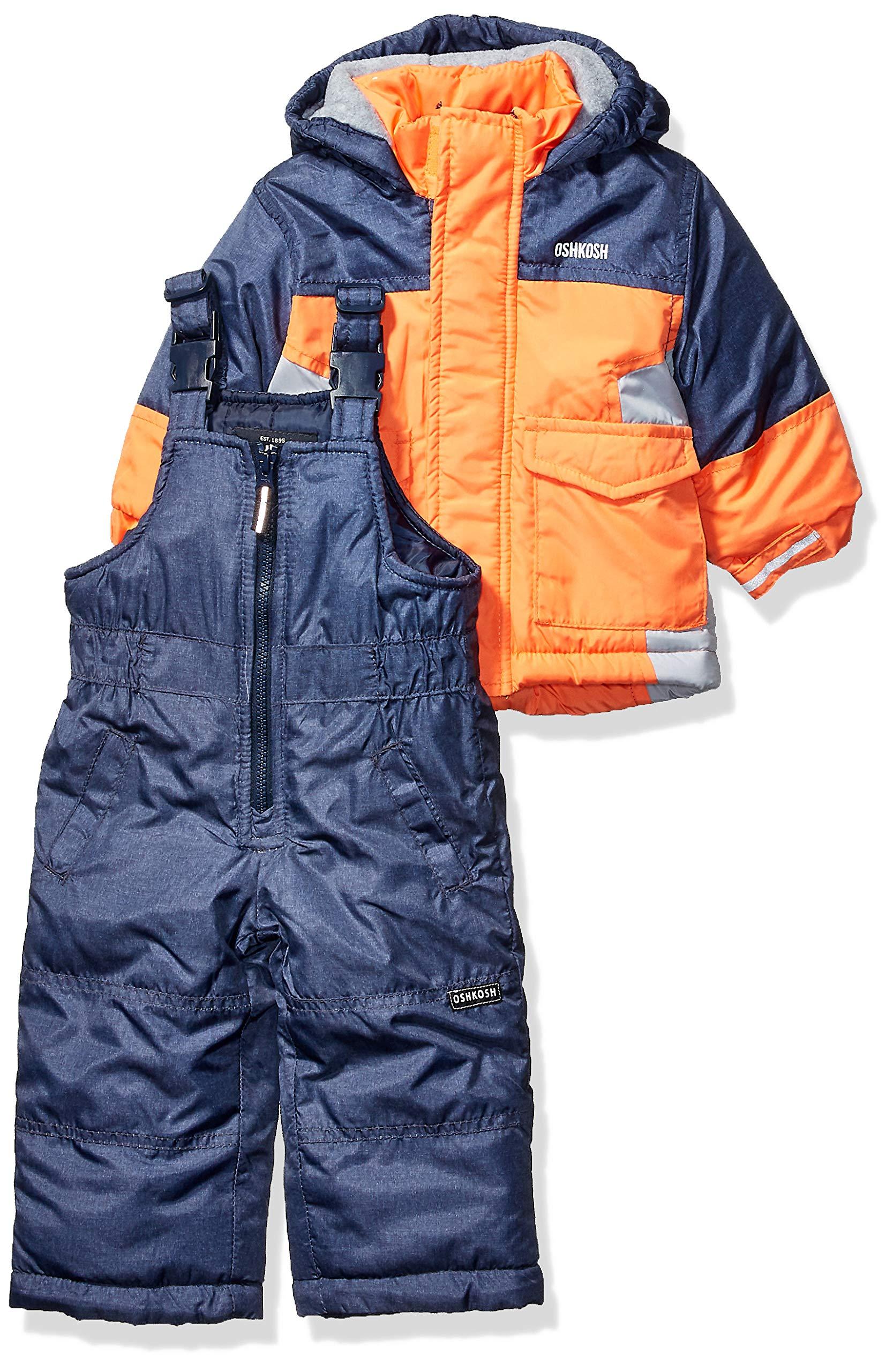 Osh Kosh Baby Boys Ski Jacket and Snowbib Snowsuit Set, Orange Fall, 12Mo by OshKosh B'Gosh