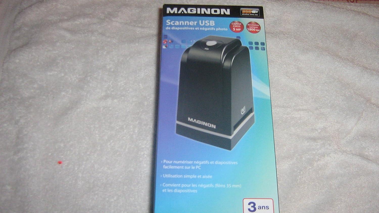 Maginon FS 500 película positiva negativ escáner de 1800 dpi (3600 dpi interpolados) 24 bit profundidad de color de diapositivas USB Negativ: Amazon.es: ...