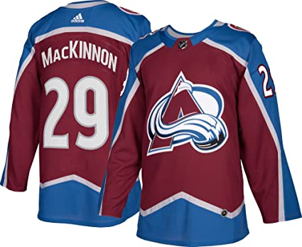 46cca54a3 Nathan MacKinnon Colorado Avalanche Adidas Authentic Home NHL Hockey Jersey