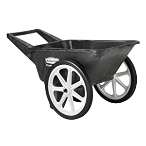 Rubbermaid Commercial Big Wheel Cart, 200 Pound Capacity, Black, FG565461BLA