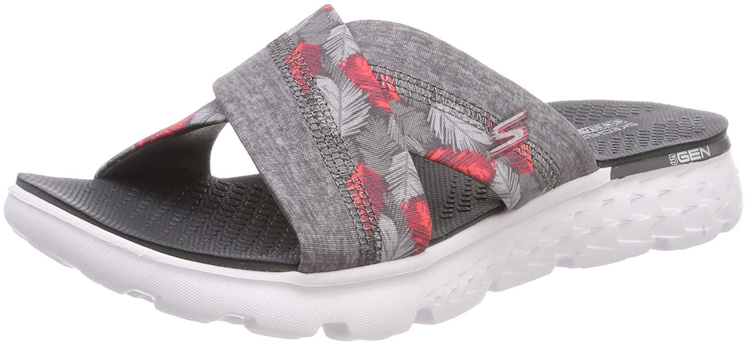 82775a8b94bb Skechers Women s s On-The-go 400-Tropical Flip Flops  Amazon.co.uk  Shoes    Bags