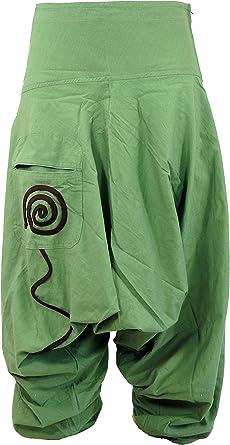 GURU-SHOP, Goa Pluderhose, Pantalón Aladdin, Verde, Algodón, Tamaño:50, Pantalones de Hombre: Amazon.es: Ropa y accesorios