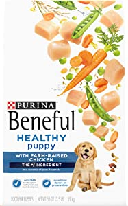 Purina Beneful Healthy Puppy With Farm-Raised Chicken, High Protein Dry Dog Food - (4) 3.5 lb. Bags