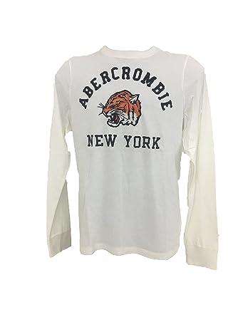 Abercrombie & Fitch - Camiseta de Manga Larga para Hombre Bianco ...