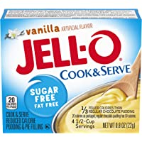 Jell-O Instant Vanilla Sugar-Free Fat Free Pudding & Pie Filling (0.8 oz Boxes, Pack of 24)
