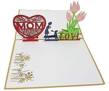 Tarjeta de felicitación I Love Mom 3-D Pop-Up, tarjeta de ...