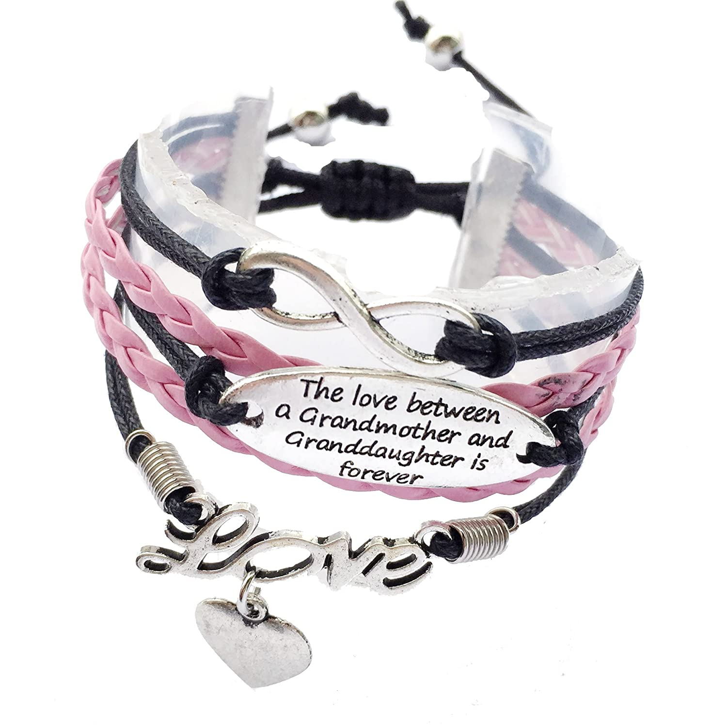 The Love Between The Grandmother And Granddaughter Is Forever Bracelet Adjustable-2 Styles DOLON RC3207-A