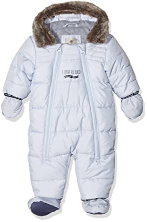 3f8a23284 Timberland Baby Boys' T96217 Snowsuit, Blue (CIEL), FR (Size: 1 Months):  Amazon.co.uk: Clothing