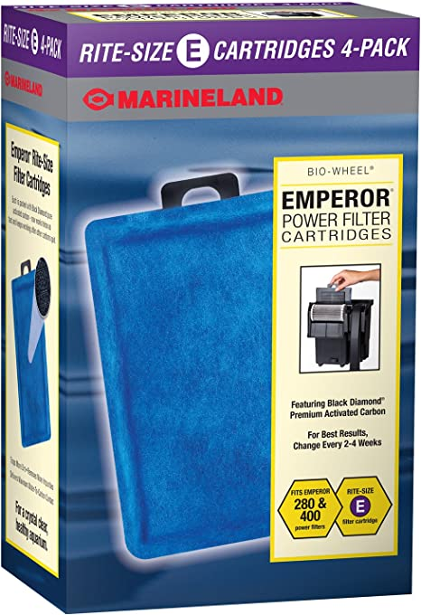 Amazon.com : Marineland Emperor Power Filter Cartridge Rite-Size E, 4 Count, Replacement Cartridge For Aquarium Filtration : Aquarium Filter Accessories : Pet Supplies