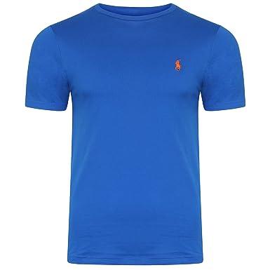 Ralph Lauren - Camiseta - Básico - Cuello Redondo - para Hombre Azul Azul  Real S  Amazon.es  Ropa y accesorios db758b85b79