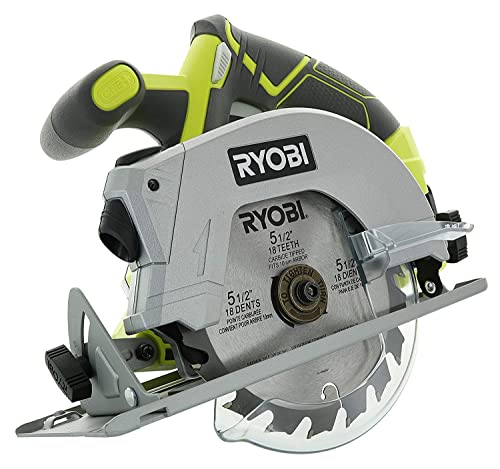 Bulk Packaged Ryobi P506 One Lithium Ion 18 Volt 5 1 2 Inch Cordless Circular Saw Bare Tool, Battery and Charger Sold Separately