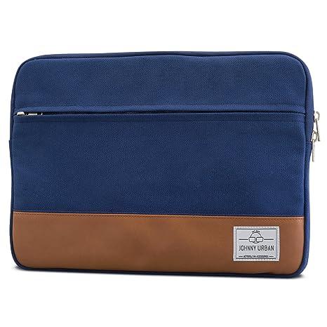 Funda portátil 15-15.6 Pulgadas Azul - Johnny Urban de Lona Bolso para Ordenador portátil