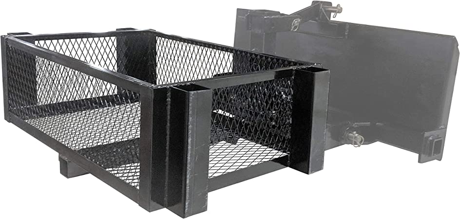 Titan Attachments Mesh Carry Basket for Tractor Hitch 24