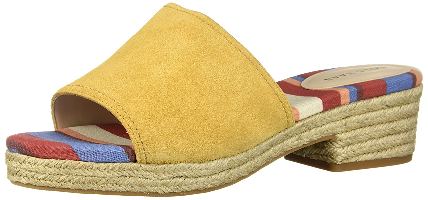 Cole Haan Women's Giselle Mid II Espadrille Wedge Sandal B0743C17NC 5 B(M) US|Spruce Yellow Suede