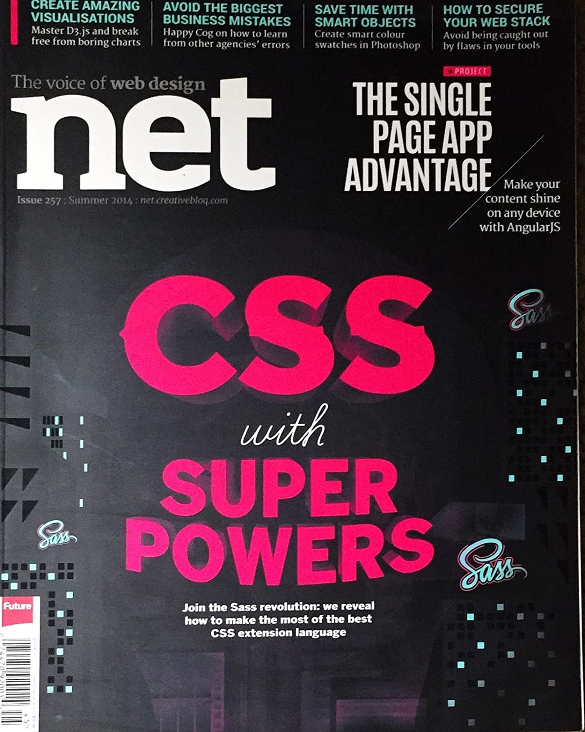 Amazon Com Net The World S Best Selling Mag For Web Designers Devs Summer 2014 Everything Else
