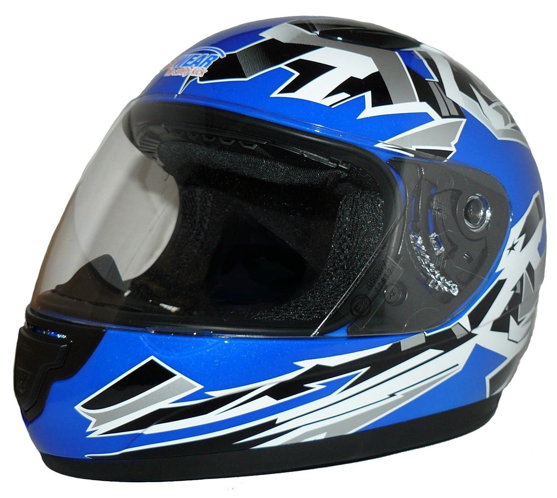 Protectwear SA03-BL-XXXS Kinder Motorradhelm Integralhelm Gr/ö/ße XXXS Youth S Blau//Silber
