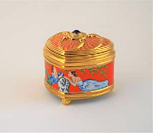 """House of Faberge Imperial Music Box Collection by Franklin Mint """"Pulcinella"""" 3"""" x 3 1/4"""""""