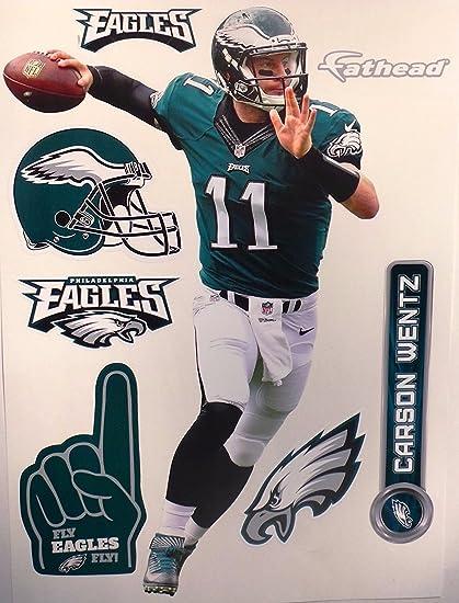 01a5c909f1 Amazon.com  FATHEAD Carson Wentz Philadelphia Eagles Logo Set NFL ...